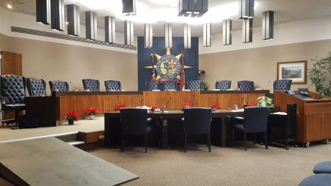 The St. Charles City Council chambers in City Hall.