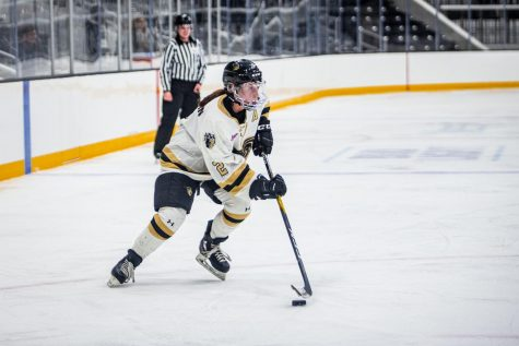 Women's ice hockey falls on final home series of 2019