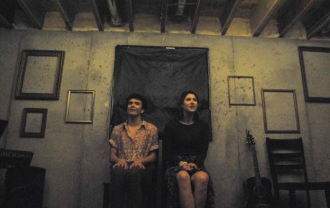 Louis Hansen and Allison Arana perform in The Basement Theatre's first show,