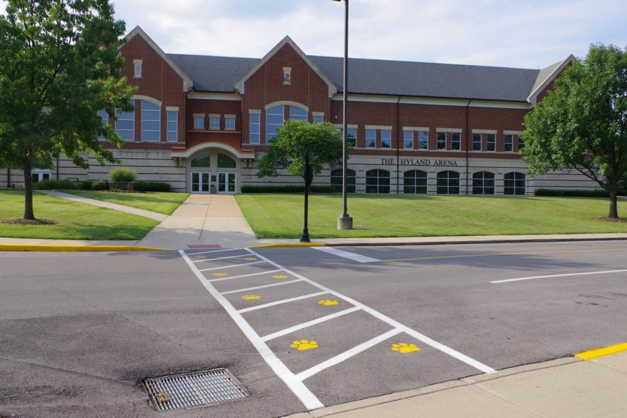The Hyland Arena.  Lindenwood will switch to online classes until March 30 because of the Coronavirus.   Stock photo by Kat Owens.