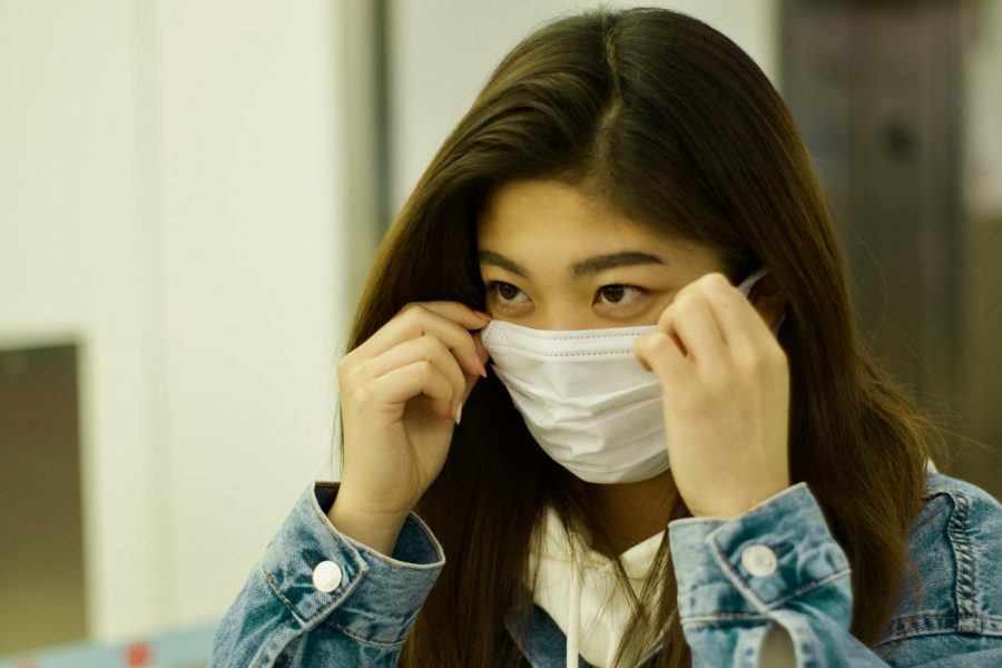 """In Japan, it is common to wear masks when we are sick,"" Anna Miyagi said, even though she was not sick and just wearing the mask as a precaution. Every time she went home her mom sent her back to school with masks."