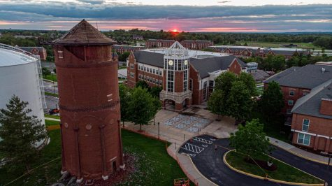 Demolition of the historic water tower began on May 13, and was put to a halt by a judge two days later. Photo provided by Drone Pro STL