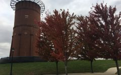 The over 130-year-old water tower on campus is set to be demolished because of its decaying condition.   <br> File photo by Kat Owens.