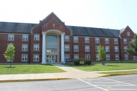 Matthews Hall dormitory. Pictured Aug. 25, 2020.