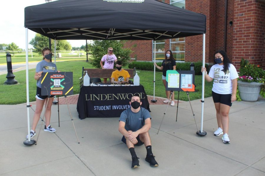 Students prepare for Lindenwood Student Involvement events. Photo provided by Lindenwood Student Involvement.