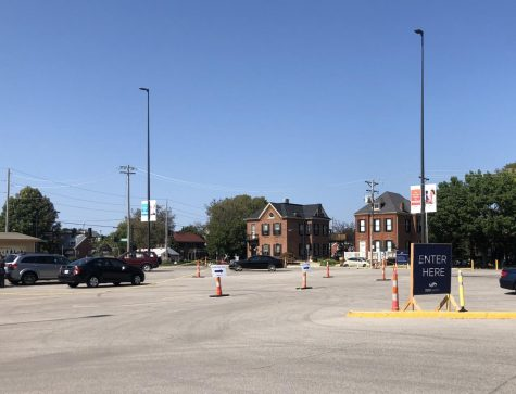 The drive-thru COVID-19 testing site located at SSM Health St. Joseph Hospital on First Capitol Drive.