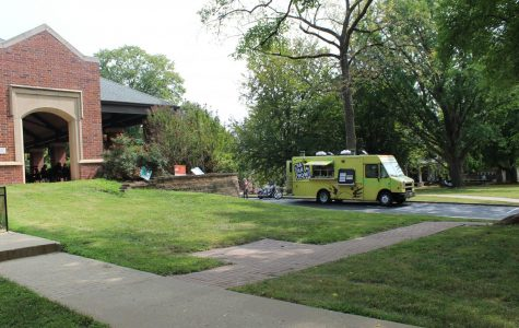 Cha Cha Chow food truck located on the heritage side of campus on the road next to the pavilion.