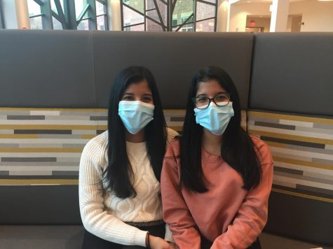 The Sota sisters have not seen their family in over a year due to the pandemic. Pictured is Paola (left) and Yari Soto (right.)