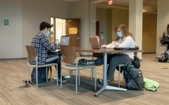 Students studying in the LARC.