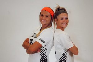 Morgan and Maggie Weller pose ahead of the spring 2021 season.