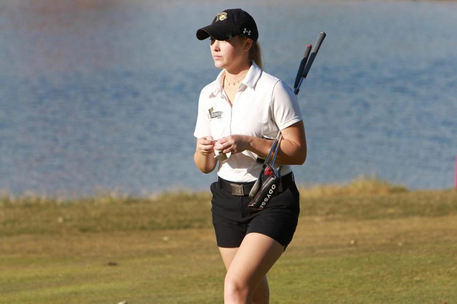 Senior Alexis Montgomery during a practice round in Fall, 2020.