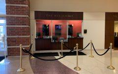 An empty Lindenwood box office in J. Scheidegger Center for the Arts ahead of 2021-22 concert season.