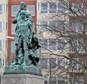 The Statue of Lewis, Clark, and Sacagawea before its removal in Charlottesville, VA