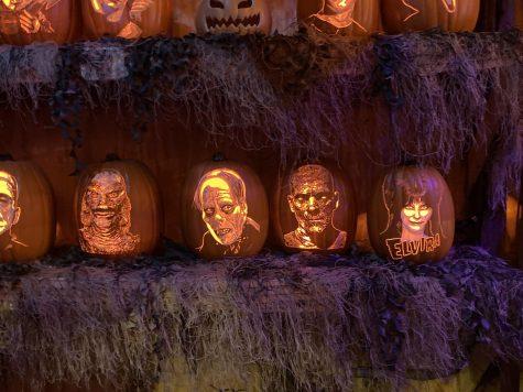 Pumpkin display at Creepyworld