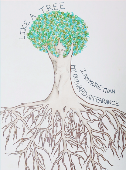 Drawing from the Love Your Tree campaign.